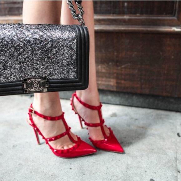 Valentino Rockstud Heels Pumps Patent
